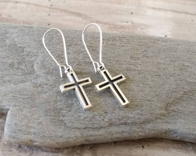 Simple Cross Earrings,  EAR-1-Please call for wholesale pricing