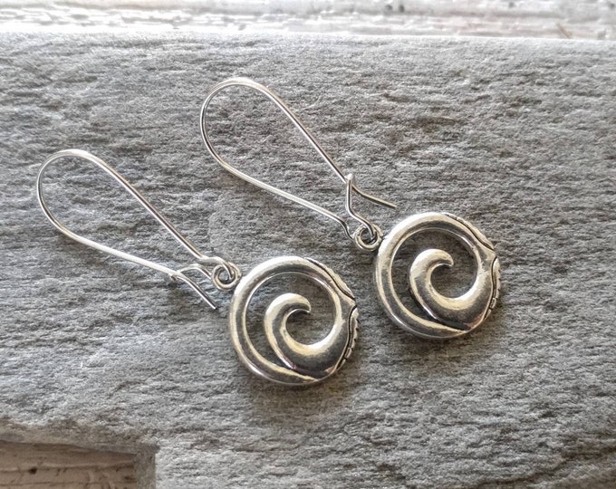 Tiny Wave Earrings, Handmade, EAR-13-Please call for wholesale pricing