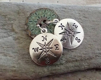 Melt Glassworks Lucite Glass Small Round Necklaces Compass