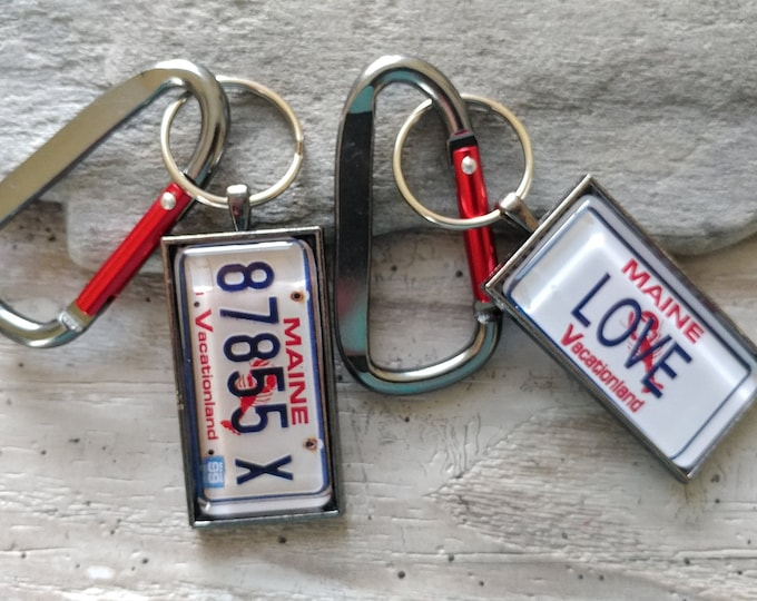 Large Plate Key Chain, MOQ 3, Simple or Carabiner, PKC-1- Please call for wholesale prices