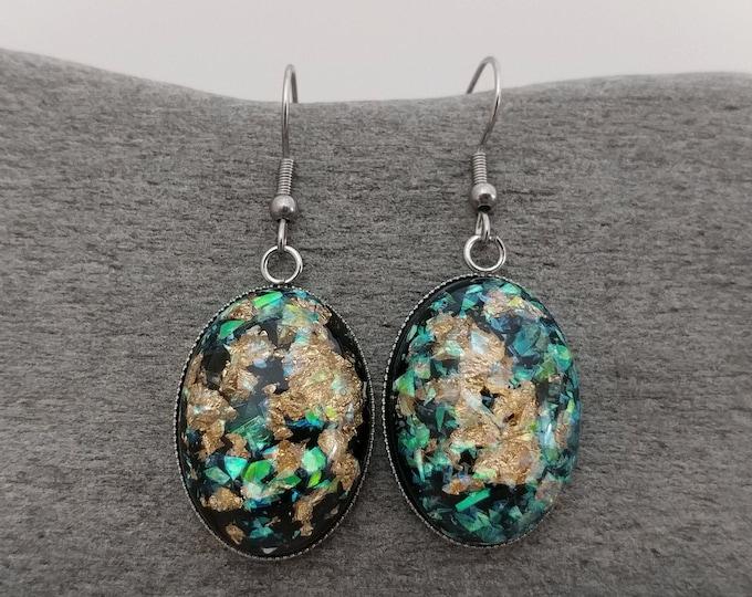 Gold Foil Statement Earrings, MOQ 3