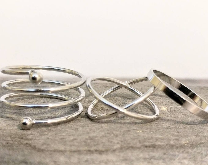Quirky Ring Set, 9-30- Please call for wholesale Pricing