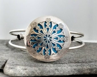 SALE! Aromatherapy Bracelet,  Antique Silver, Free Pads, FREE SHIPPING!
