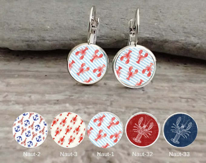 Lobster Earrings, Handmade, 12  Settings Available, Please call for wholesale prices