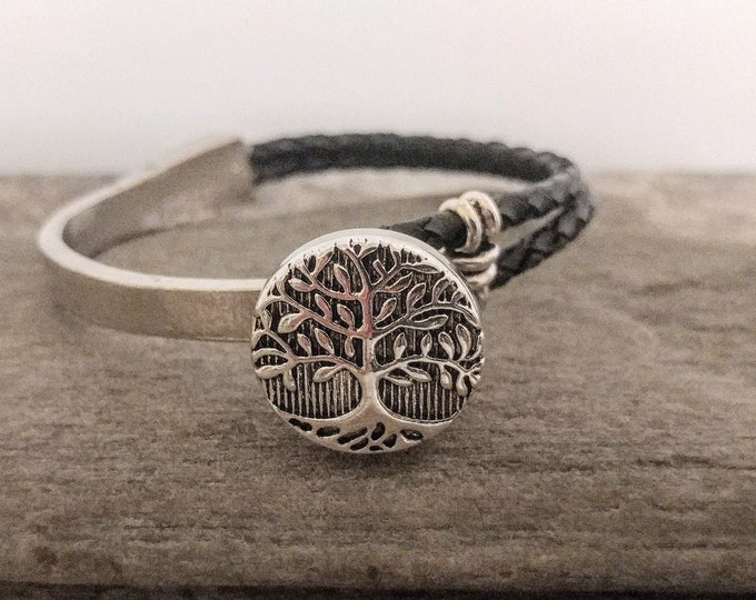 Leather & Silver Snap Bracelet-SB-12- Please call for wholesale prices