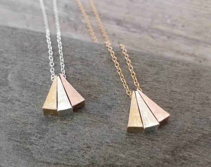 Triple Triangle Necklace, MOQ 3
