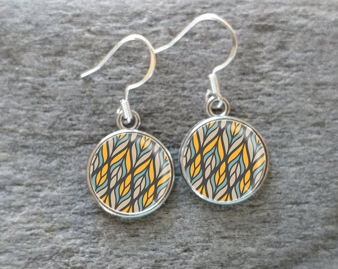 Geo Earrings, Handmade, Multiple Images, 12  Settings Available, GEO-E-Please call for wholesale prices