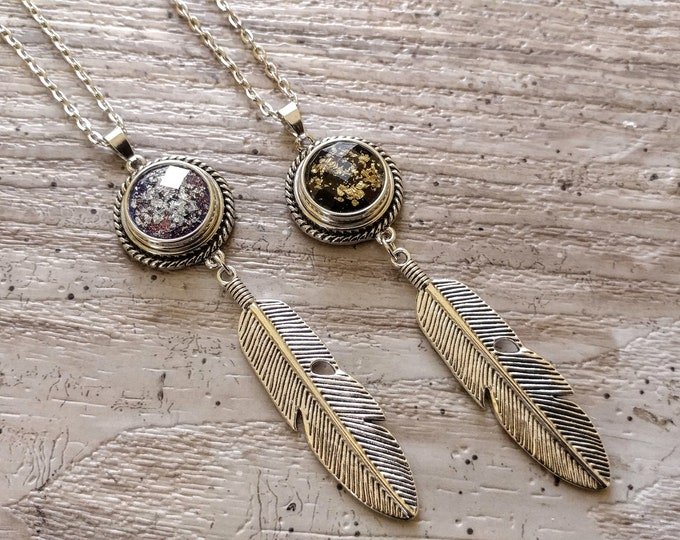 Boho Feather Snap Necklace-SN-15- Please call for wholesale pricing