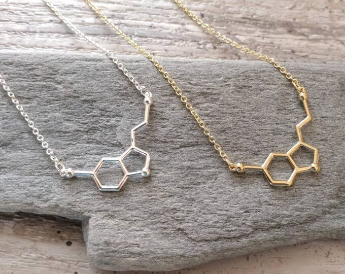Serotonin Molecule Necklace, MOQ 3