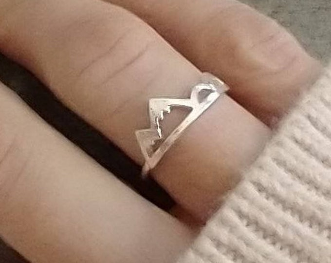 Delicate Mountain Ring, Wanderlust Ring, To the Mountains Ring, Silver Mountain Ring, Gold Mountain Ring, Rose Gold Mountain Ring