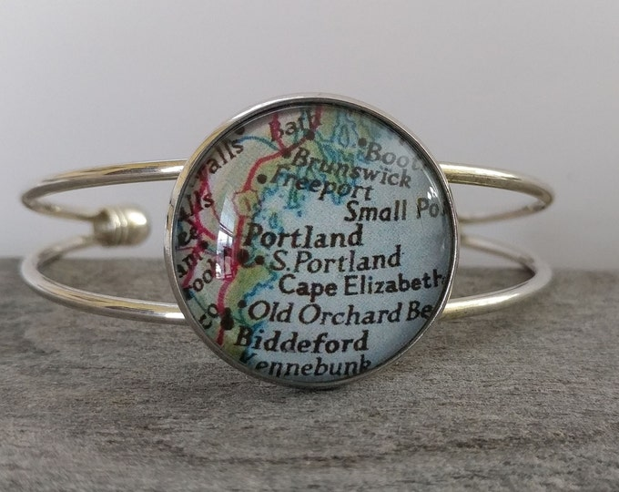 Double Band Bracelet, Custom Map or Artwork Available, CB-5- Please call for wholesale pricing