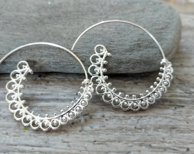 Spiral Earrings, BOHO-E4- Please call for wholesale pricing