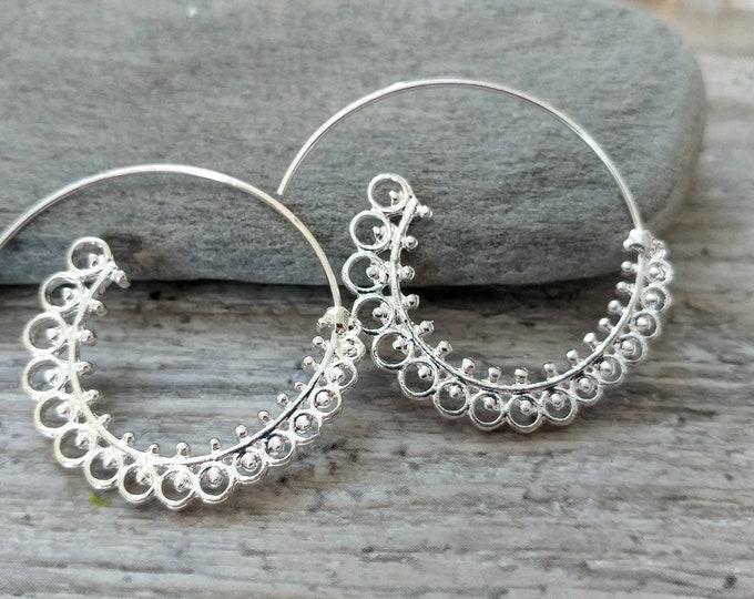 Spiral Earrings, MOQ 3