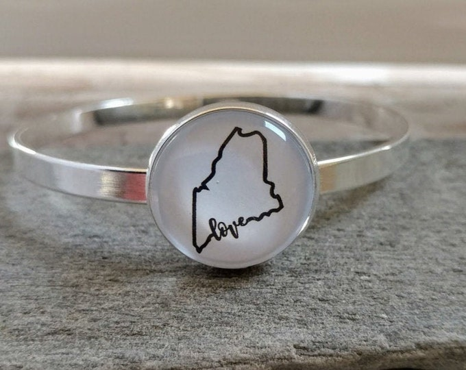 Custom Map or State Pride Bracelet, CB-2- Please call for wholesale pricing