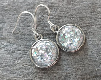Glitter Earrings, 3 Color Options, 12  Settings Available