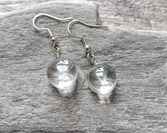 Wish Earrings, dandelion Earrings, Lucky Earrings