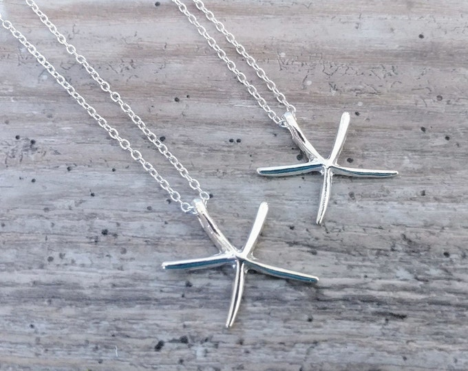 Delicate Starfish Necklace, MOQ 3