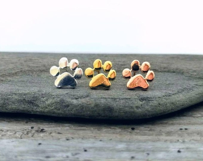 Paw Print Studs, STUD-2-Please call for wholesale pricing
