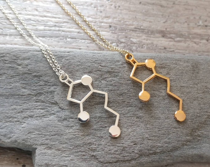 Whiskey Molecule Necklace, MOQ 3