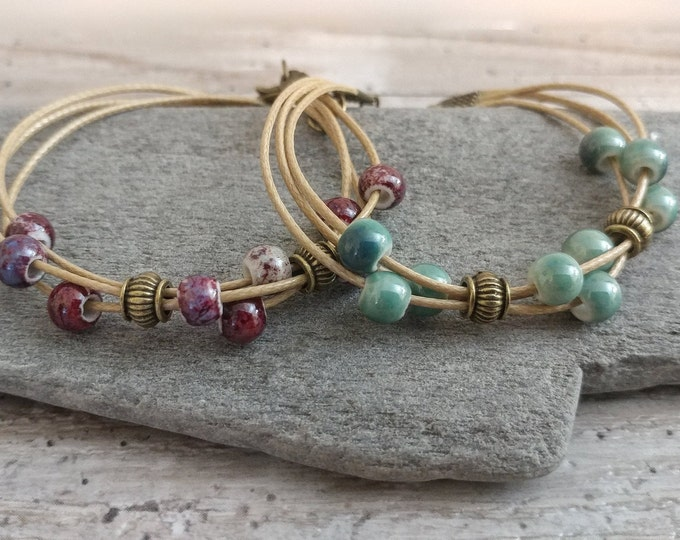 Set of 2 Hemp Layer Bracelets, BEADB-1- Please call for wholesale pricing