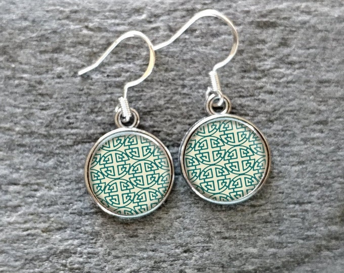 Mod Squad Earrings, Handmade, Multiple Images, 12  Settings Available, MS-E-Please call for wholesale prices