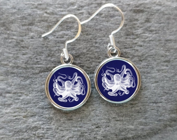 Vintage Nautical Earrings, Handmade, Multiple Images, 12  Settings Available, NAUT-E-Please call for wholesale prices