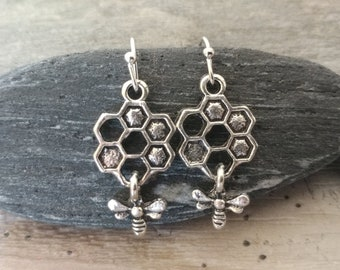 Petite Silver Honeycomb  Earrings, Please call to unlock wholesale pricing