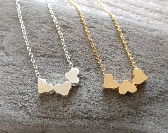 Triple Heart Necklace, MOQ 3