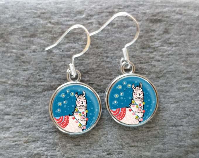 Kid's Unicorn & Llama Earrings, Handmade, Multiple Images, 12  Settings Available, UL-E
