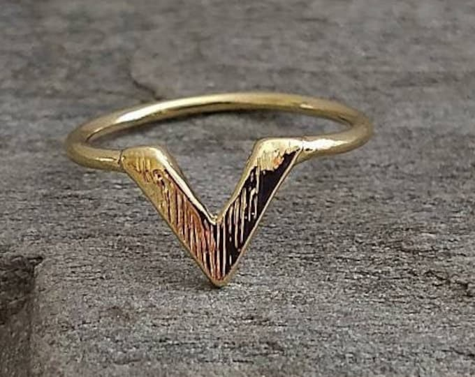 BOGO! Chevron Ring, Silver Chevron Ring, Gold Chevron Ring, Buy One, Get One Free, For A Limited Time