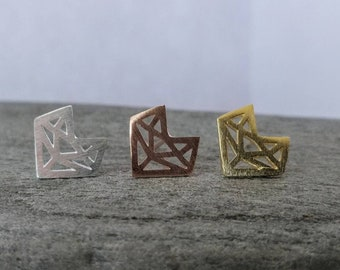 Origami Fox Studs, STUD-1-Please call for wholesale pricing