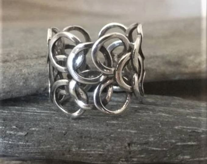 Gorgeous Silver Art Deco Ring, Call for Code to Unlock Wholesale Pricing