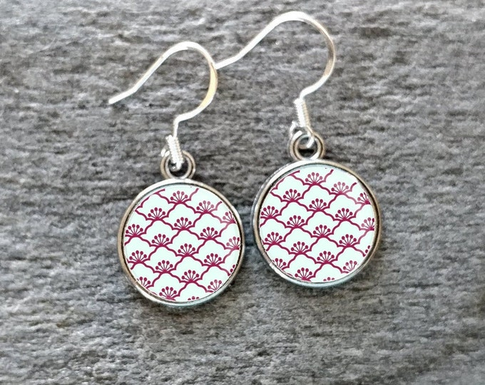 Red Orient Earrings, Handmade, Multiple Images, 12  Settings Available, RO-E-Please call for wholesale prices