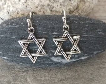 Tiny Silver Star of David Earrings, Please Call For Wholesale Pricing