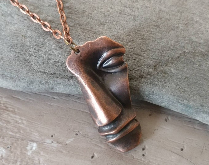 Boho Face Necklace, BN-11- Please call for wholesale pricing