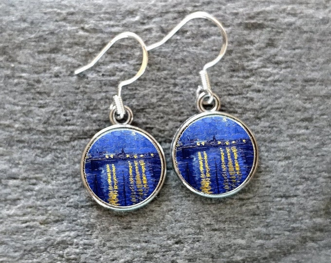 Van Gogh Earrings, Handmade, Multiple Images, 12  Settings Available, VG-E-Please call for wholesale prices