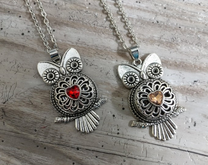 Owl Snap Necklace-SN-4- Please call for wholesale pricing