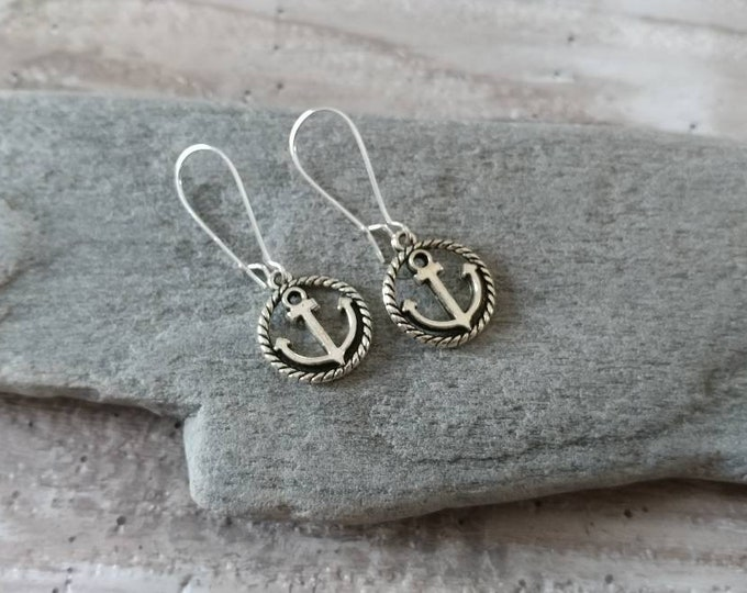 Anchor & Rope Earrings, EAR-28-Please call for wholesale pricing