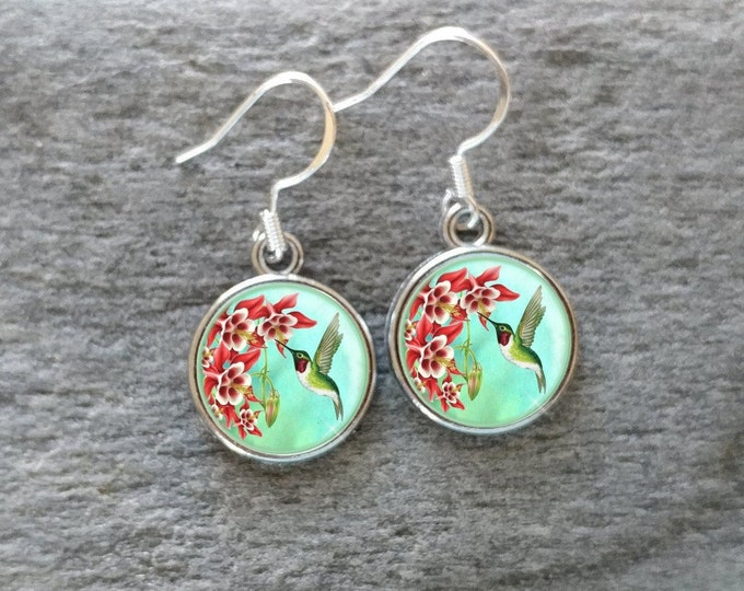 Hummingbird Earrings, Handmade, Multiple Images, 12  Settings Available, HB-E