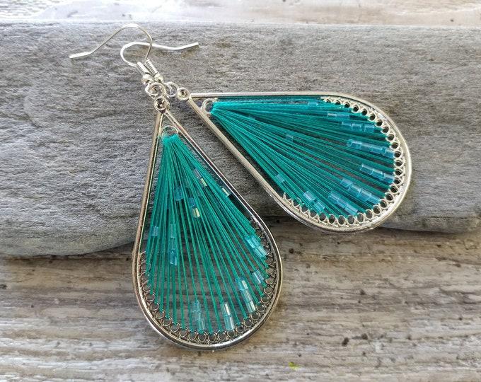 Teardrop String Earrings, MOQ 3