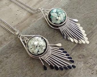 Art Deco Snap Necklace, Interchangable Necklace, Snap Necklace,