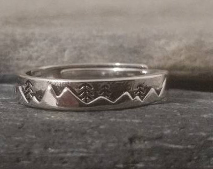 Delicate Silver Mountain Ring, Call for Wholesale Pricing Code
