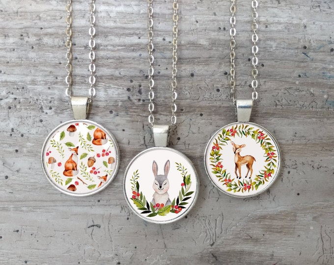 Kid's Meadow & Forest Necklace, Silver or Bronze,MAF-N- Please call for wholesale prices