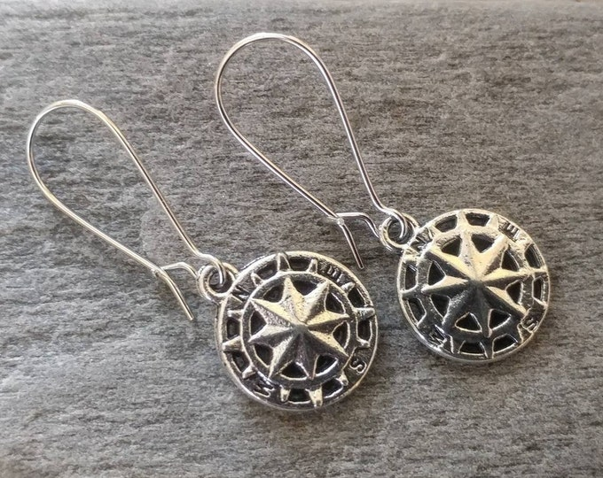 Petite Compass Earrings, List Price reflects MSRP