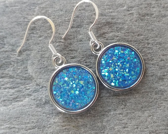 Pastel Druzy Earrings, 4 Color Options, 12  Settings Available, PD-E-Please call for wholesale prices