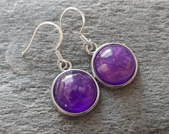 Marble Resin Earrings, 7 Color Options, 12  Settings Available