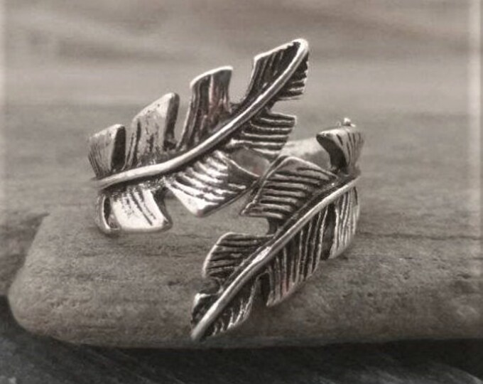 Silver Leaf Wrap Statement Ring, Call for Code to Unlock Wholesale Pricing