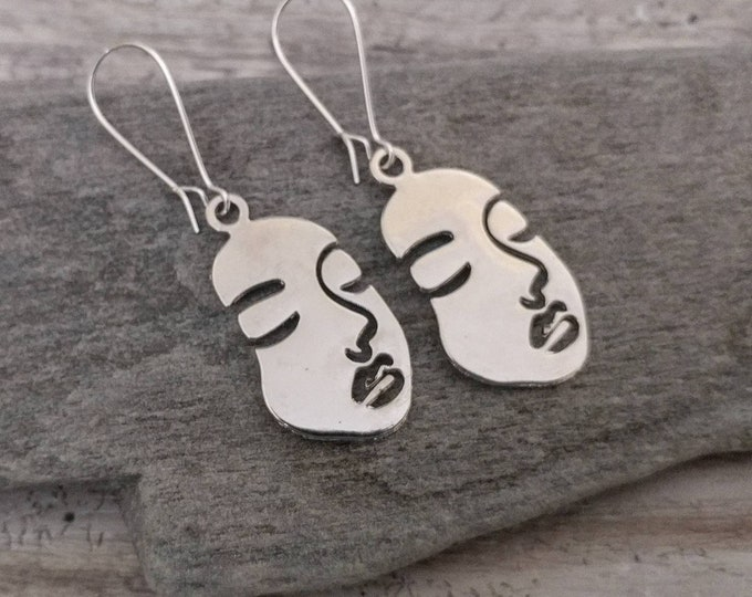 Picasso Face Earrings, EAR-32-Please call for wholesale pricing