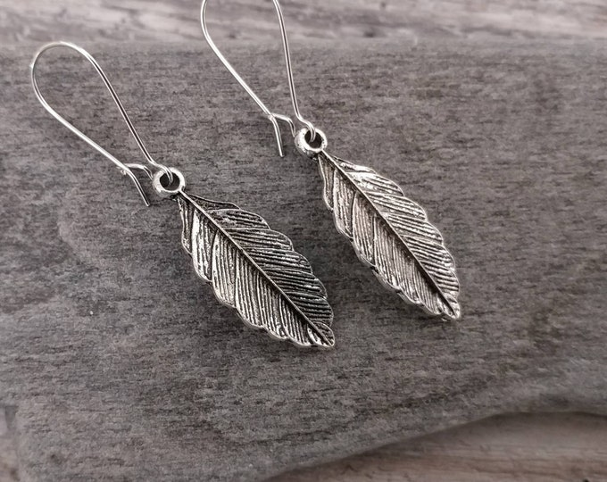 Leaf Earrings, Silver, EAR-12-Please call for wholesale pricing