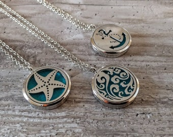 Nautical Aromatherapy Locket, AL-N